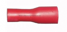 "Red female spade crimp terminal FULLY INSULATED 2.8mm (1/8"") ALT/T8"